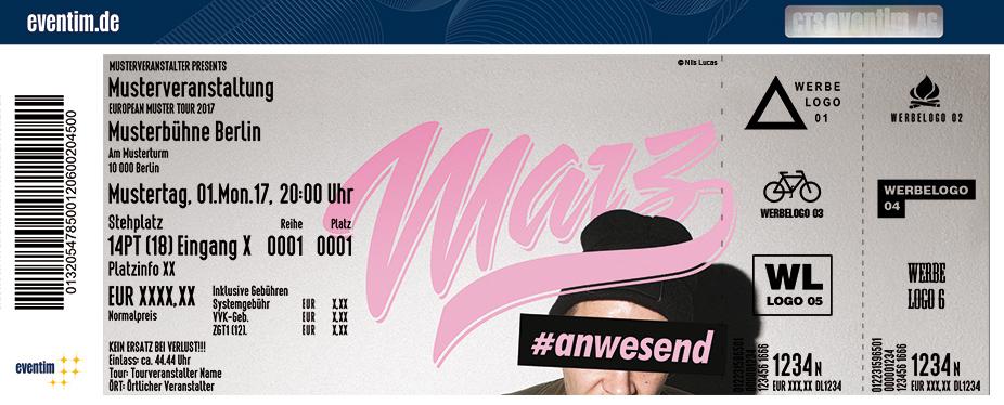 Karten für Marz: #anwesend Tour 2017 in Dortmund