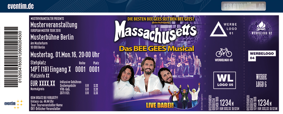 Karten für Massachusetts - Das Bee Gees Musical in Bergheim