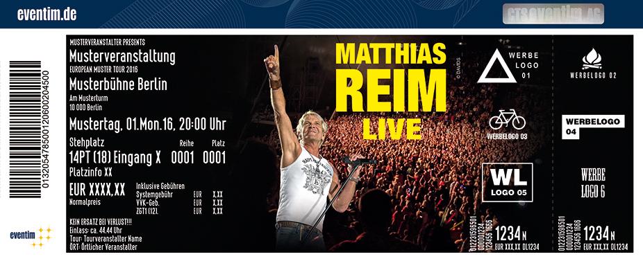 Matthias Reim Karten für ihre Events 2017