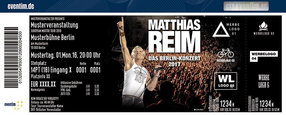 Karten für Matthias Reim - Das Berlin-Konzert 2017 in Berlin