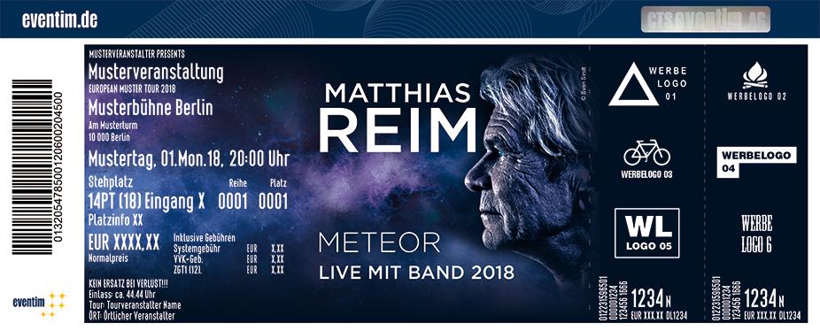 Karten für Matthias Reim - METEOR - Live mit Band 2018 in Eberswalde