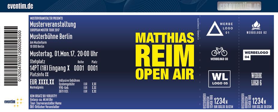 Karten für Matthias Reim - Open Air 2018 in Oranienburg