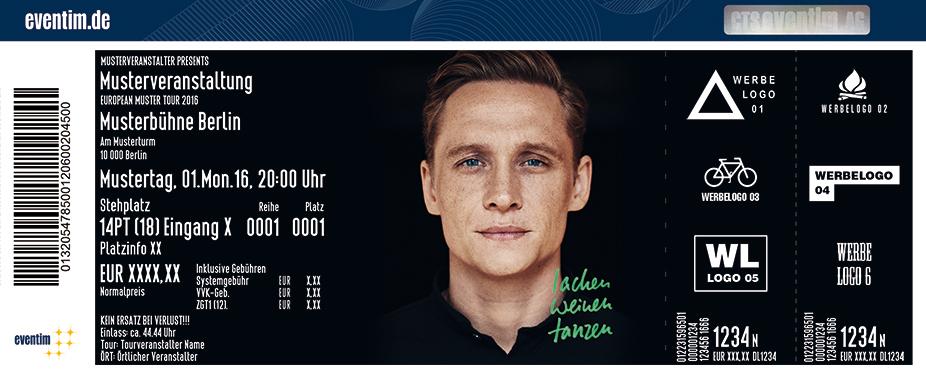 Karten für Matthias Schweighöfer: Lachen Weinen Tanzen Tour 2017 in Magdeburg