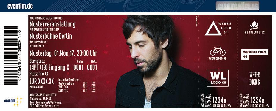 Karten für Max Giesinger: Roulette Tour 2017 in Münster