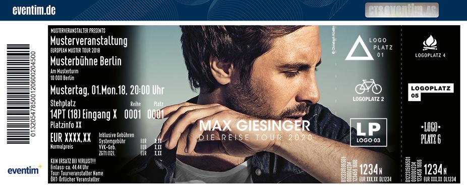 Max Giesinger - Die Reise Tour 2020