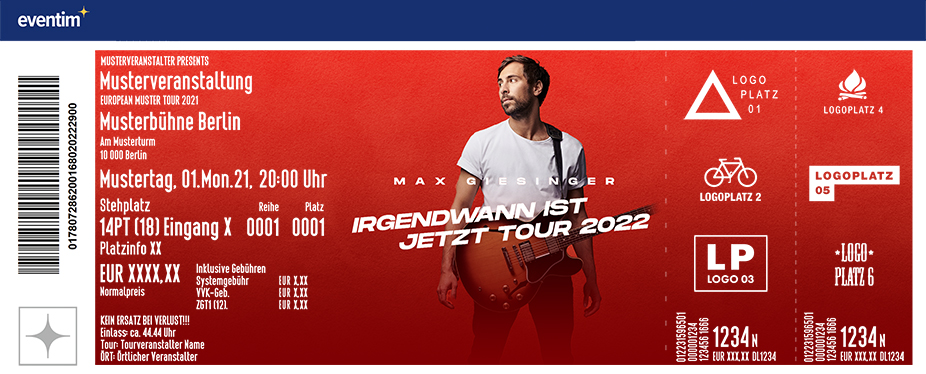 Max Giesinger - Irgendwann ist jetzt Tour 2022