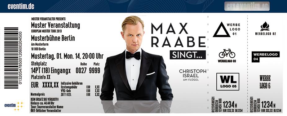 Max Raabe Karten für ihre Events 2017