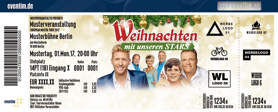 Karten für Weihnachten mit unseren Stars: Maximilian Arland, Heintje (Hein Simons) und Fernando Express in Greifswald