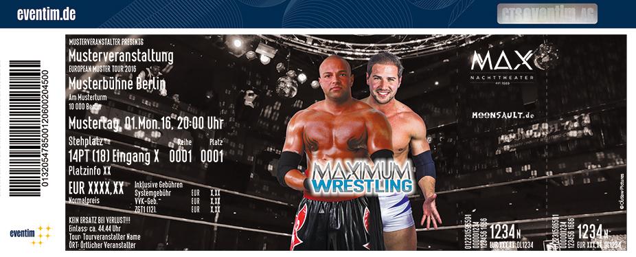 Maximum Wrestling Karten für ihre Events 2017