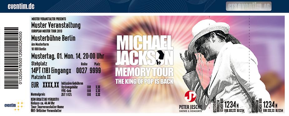 Karten für Michael Jackson Memory Tour in Bielefeld