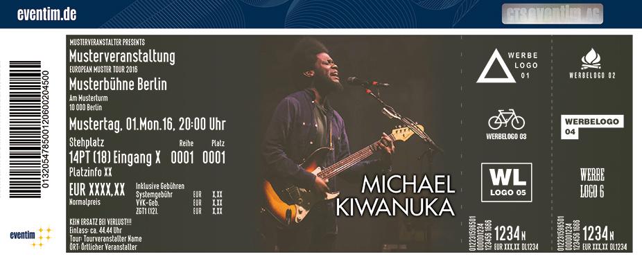 Michael Kiwanuka Karten für ihre Events 2017