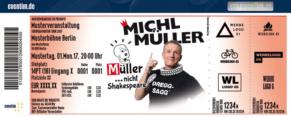 Karten für Michl Müller: Müller... nicht Shakespeare! in Bad Blankenburg