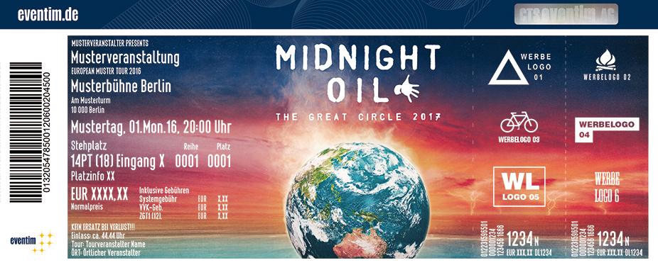 Midnight Oil Karten für ihre Events 2017