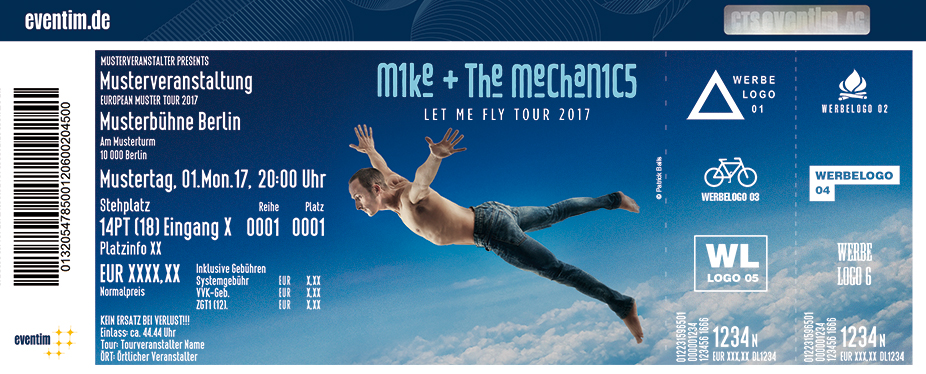 Karten für Mike + The Mechanics: Let Me Fly Tour 2017 in Mannheim