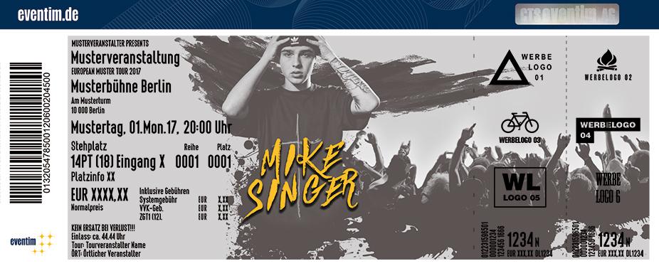Mike Singer Karten für ihre Events 2017