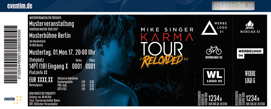 Karten für Mike Singer: Karma Tour Reloaded in Giessen