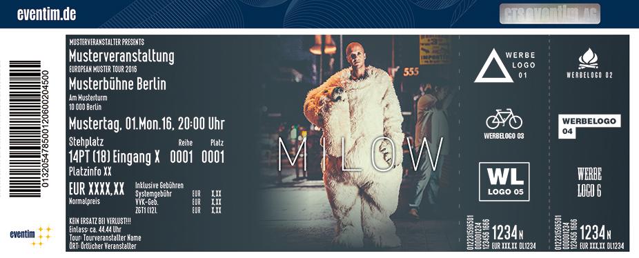 Milow Karten für ihre Events 2017