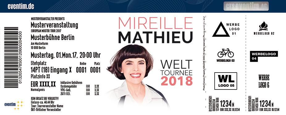 Karten für Mireille Mathieu: Welt Tournee 2018 in Aachen