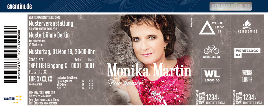 Karten für Monika Martin - für immer - Tour 2019 in Torgau