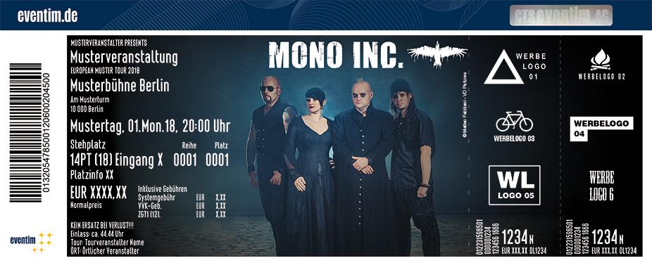 Mono Inc. Karten für ihre Events 2018