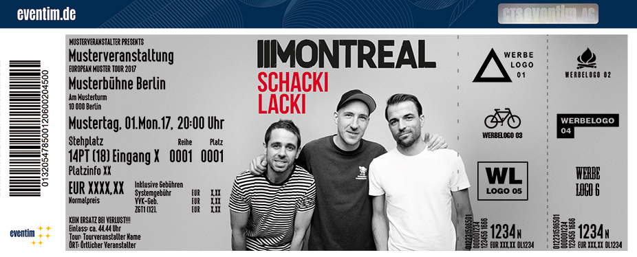 Karten für Montreal: Schackilacki Tour in Hannover