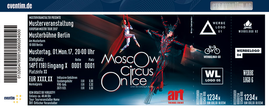 Karten für Moscow Circus on Ice - Tour 2017/-18 in Esslingen Am Neckar