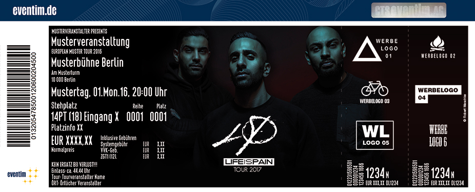 Karten für Mosh36 x PA Sports x Kianush: Life is Pain Tour 2017 in Köln