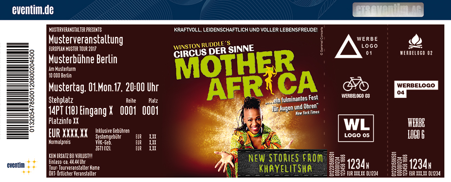 Karten für Mother Africa - New Stories from Khayelitsha in Aurich