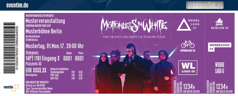 Motionless In White Karten für ihre Events 2018