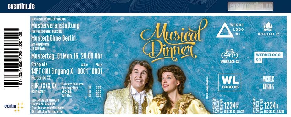 Karten für Die Musical-Dinnershow im Riverboat in Leipzig