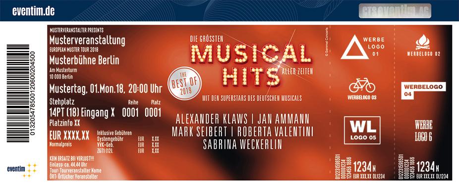 Die Größten Musical-Hits Aller Zeiten Karten für ihre Events 2018