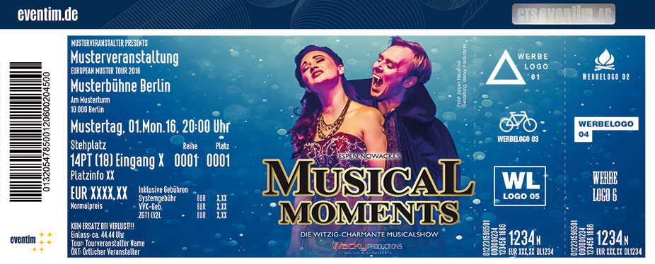 Musical Moments Karten für ihre Events 2018
