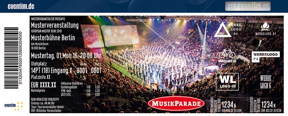 Karten für Musikparade 2017 – Europas größte Tournee der Militär- und Blasmusik in Erfurt