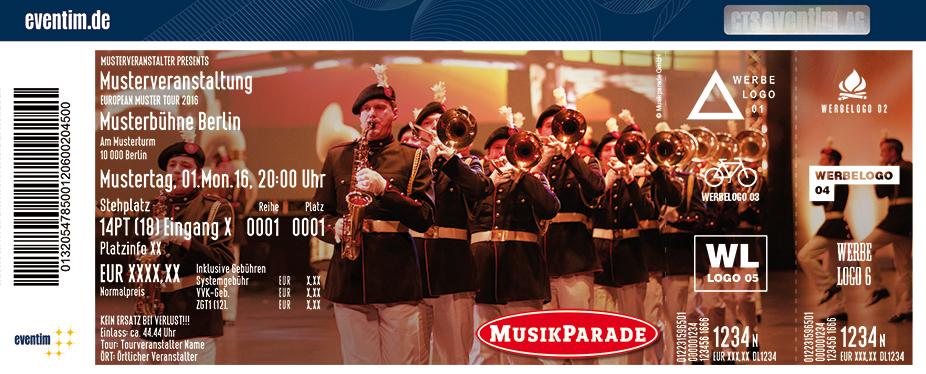 Karten für Musikparade 2018 - Europas größte Tournee der Militär- und Blasmusik in Cottbus