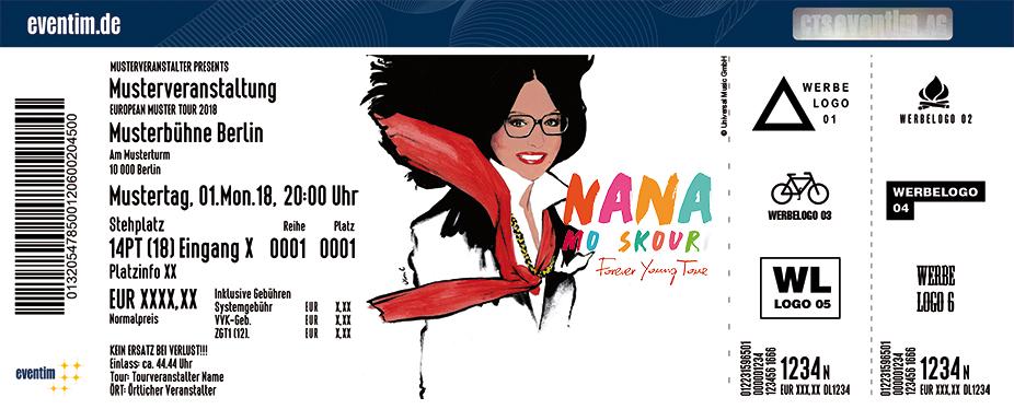 Nana Mouskouri Karten für ihre Events 2018