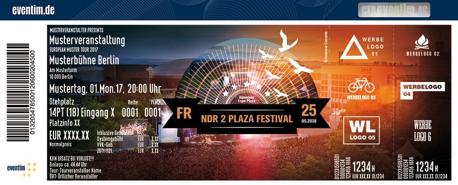 Karten für NDR 2 Plaza Festival in Hannover