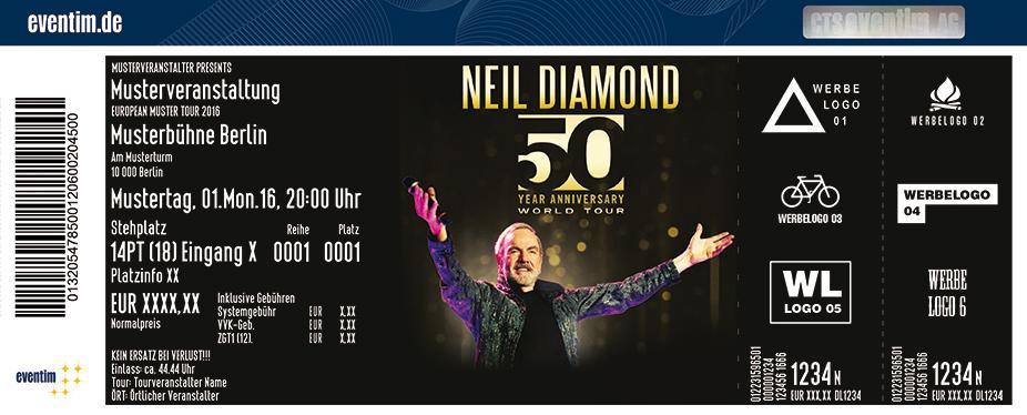 Karten für Neil Diamond: 50 Year Anniversary World Tour in Wien