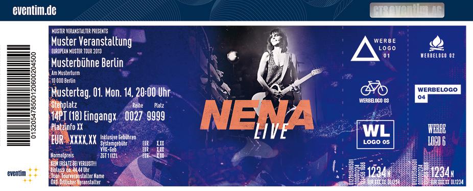 Nena Karten für ihre Events 2017