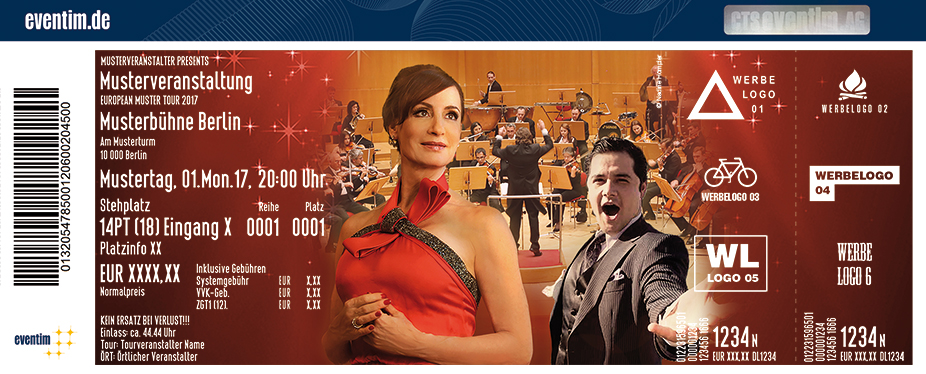 Karten für Neujahrskonzert – mit Anna Maria Kaufmann und der Russischen Kammerphilharmonie in Frankfurt / Main