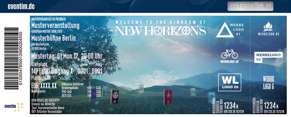 New Horizons Karten für ihre Events 2017