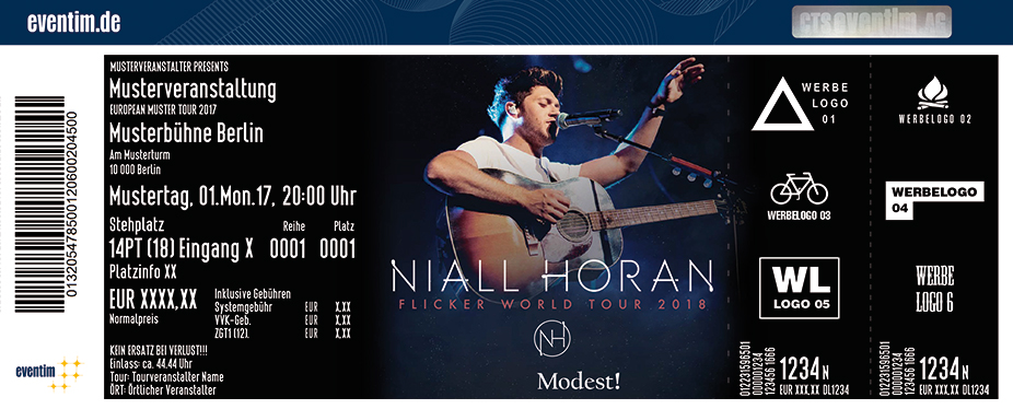 Karten für Niall Horan: Flicker World Tour 2018 in Berlin