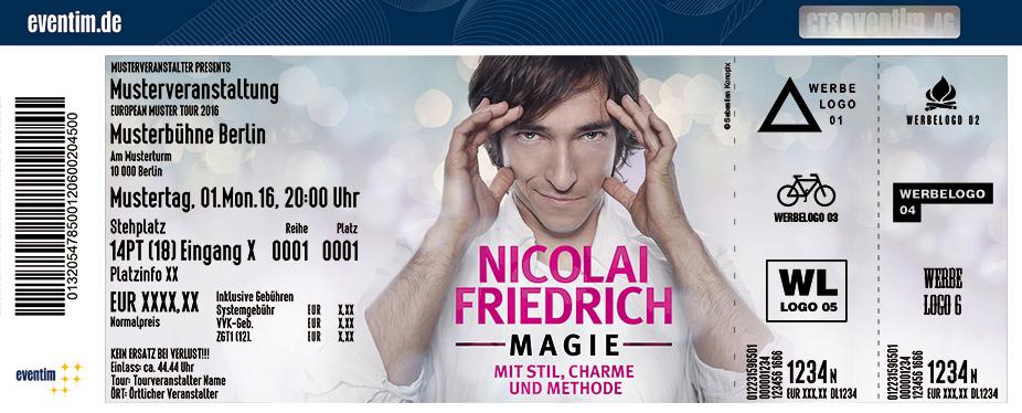 Karten für Nicolai Friedrich: Magie - mit Stil, Charme und Methode in Augsburg