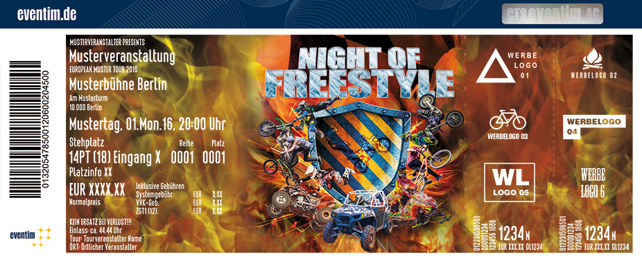 Night Of Freestyle Karten für ihre Events 2017
