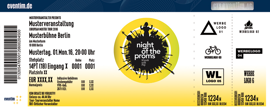Karten für Night of the Proms 2017 in Bremen