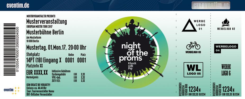 Night Of The Proms Karten für ihre Events 2018