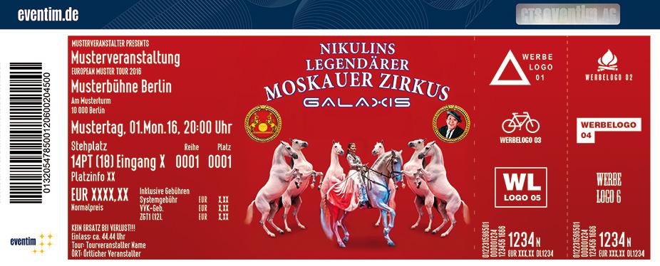 Karten für Nikulins legendärer Moskauer Zirkus in Düsseldorf