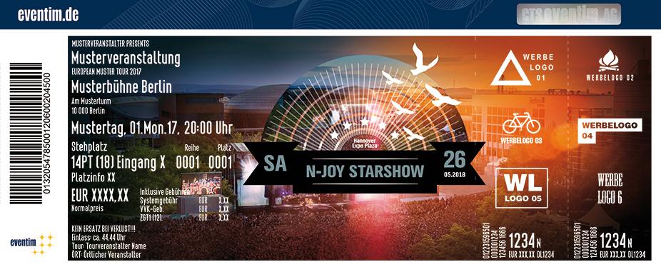 N-Joy Starshow Karten für ihre Events 2017