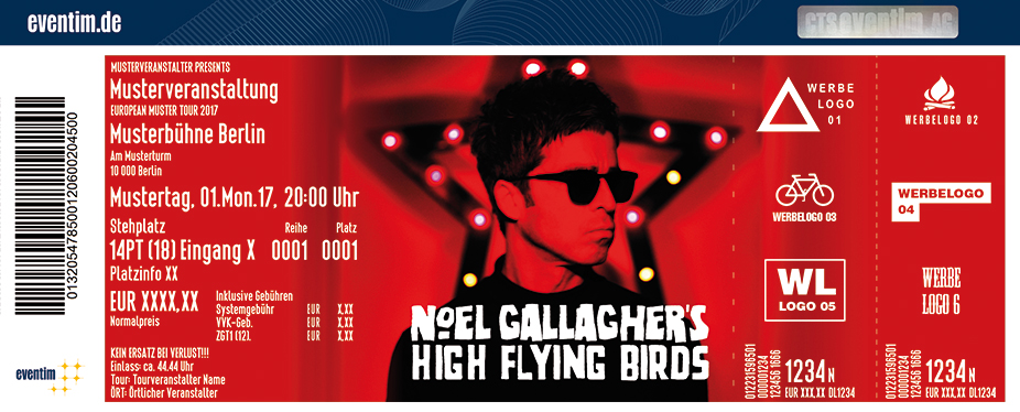 Karten für Noel Gallagher's High Flying Birds in Esch Alzette / Luxemburg