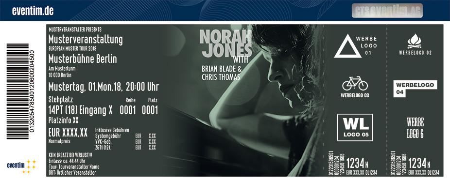 Norah Jones Karten für ihre Events 2018