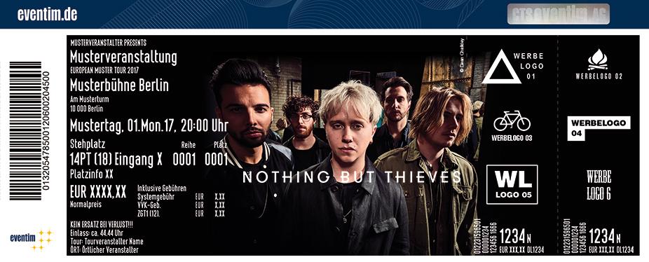 Nothing But Thieves Karten für ihre Events 2017